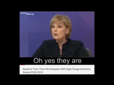 HILARIOUS Brexit BBC Question Time - Nigel Farage vs Anna Soubry