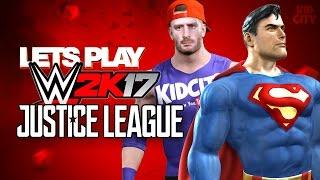 WWE 2k17 Justice League Super Heroes Battle Royal ft. Team KIDCITY!