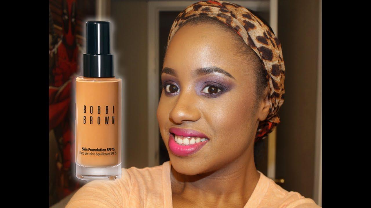 Bobbi Brown Skin Foundation Review Swatch Wear Test