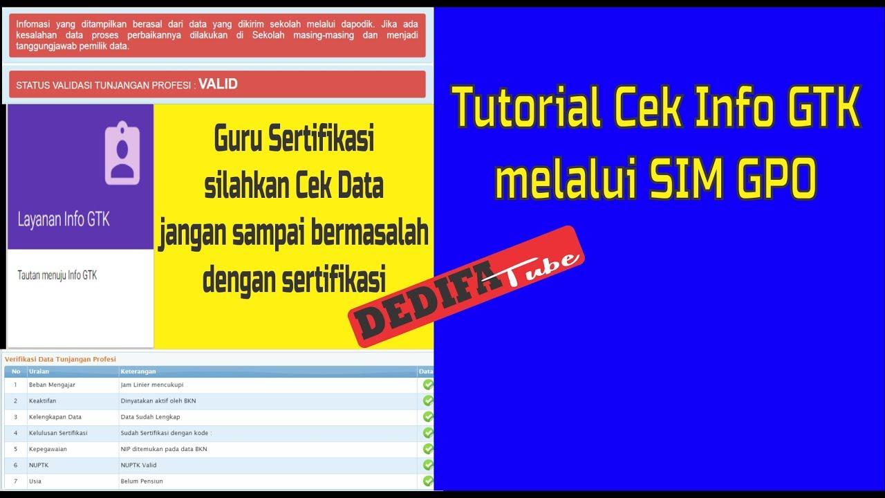 Tutorial Cek Info GTK melalui SIM GPO - YouTube