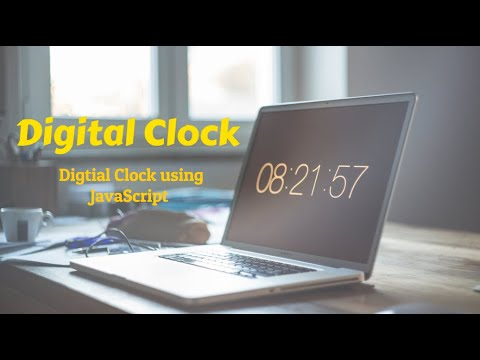 Digital Clock in JavaScript | Clock using HTML, CSS JavaScript | JavaScript Tutorial 2019 thumbnail