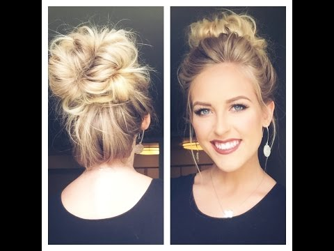 CUTE MESSY BUN | Less than 5 min