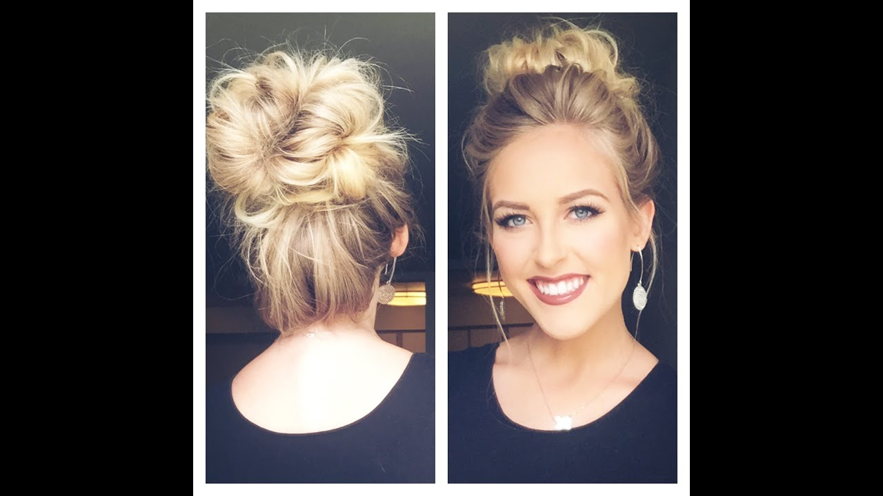 Cute Messy Bun Less Than 5 Min Youtube