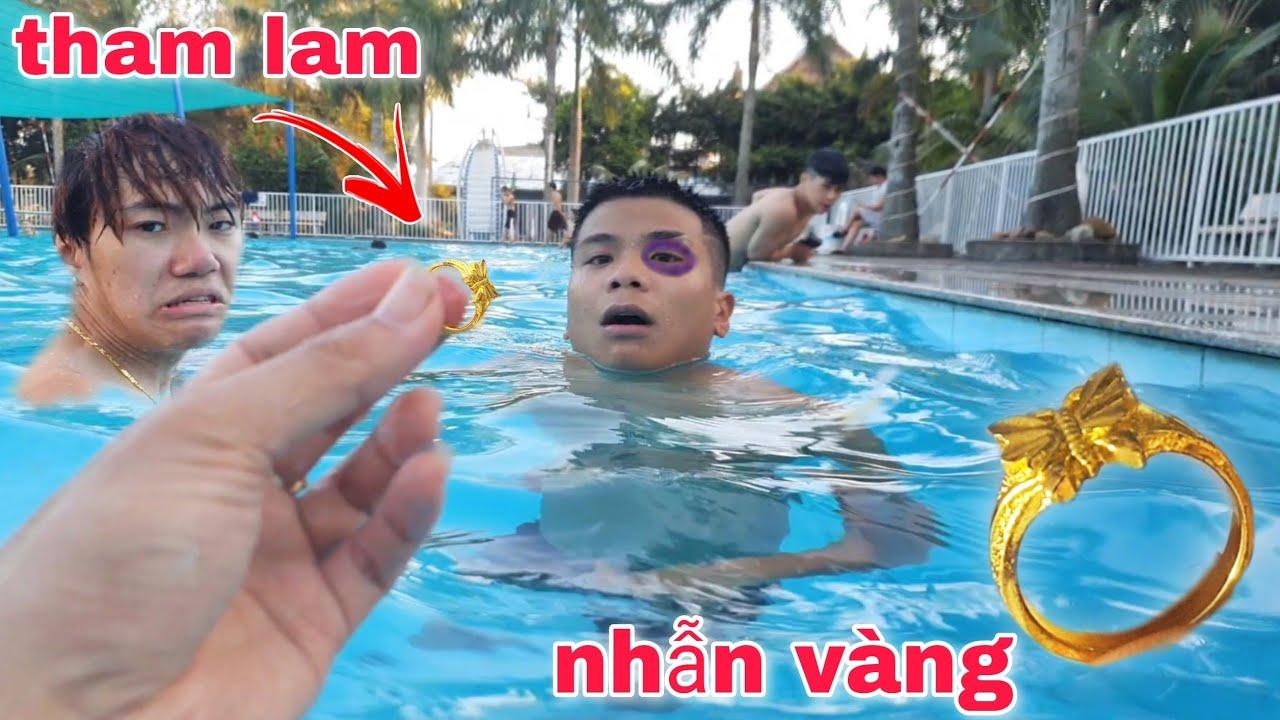 Hùng Panda | Tìm Được Nhẫn Vàng Đắt Tiền Trong Bể Bơi | Tham Lam Bị Đấ.m Tím Mắt | Team Dương KC