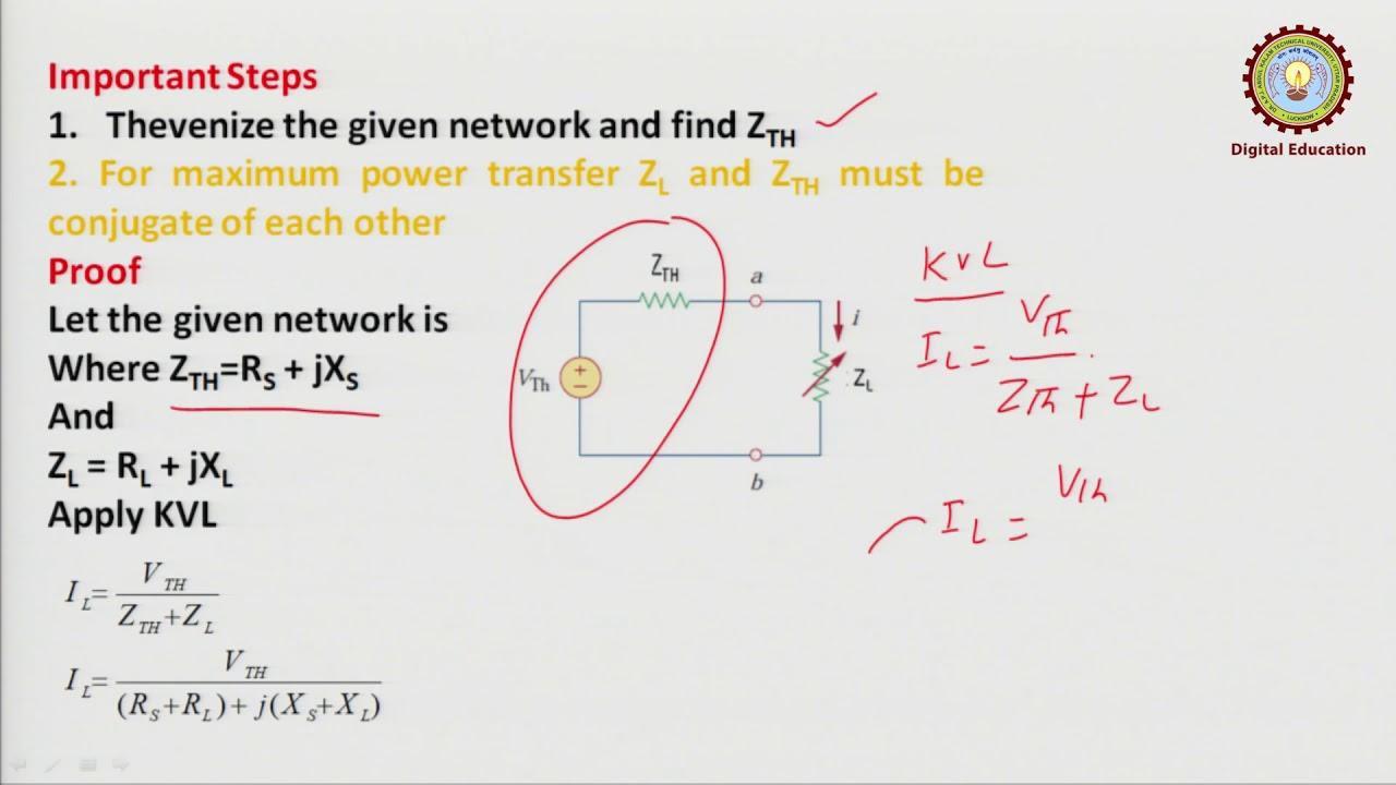Importance of maximum power transfer theorem