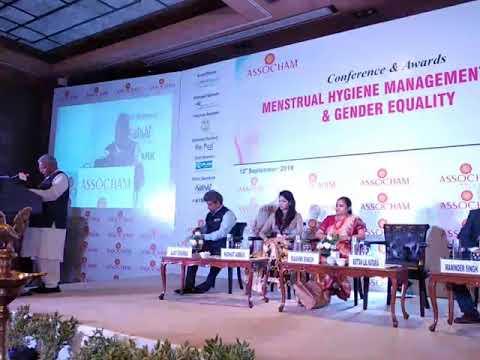 Menstrual Hygiene Mgt & Gender Equality ASSOCHAM  Conference Speech by MoS Jal Shakti Rattan Lal Kat