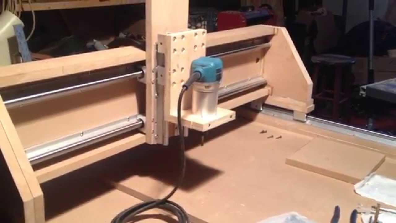 CNC Router Build 6  Installing the X and Z linear rails