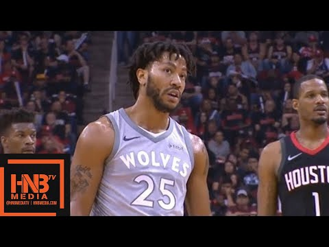 1cf16bd5f118 Houston Rockets vs Minnesota Timberwolves 1st Half Highlights   Game 1    2018 NBA Playoffs