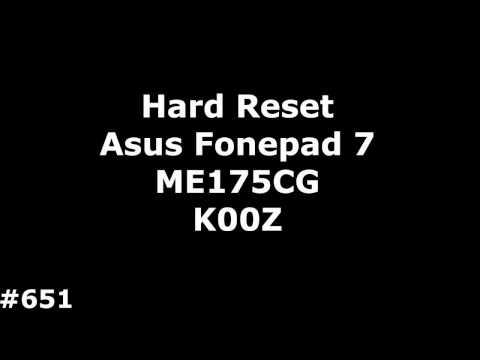 Сброс настроек Asus ME175CG K00Z (Hard Reset Asus Fonepad 7 ME175CG K00Z)