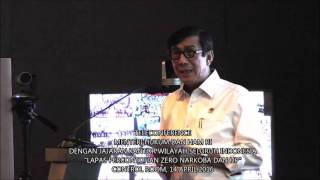 Teleconference Menkumham dengan Jajaran Kanwil Kemenkumham Se Indonesia 'Perang Melwan Narkoba'