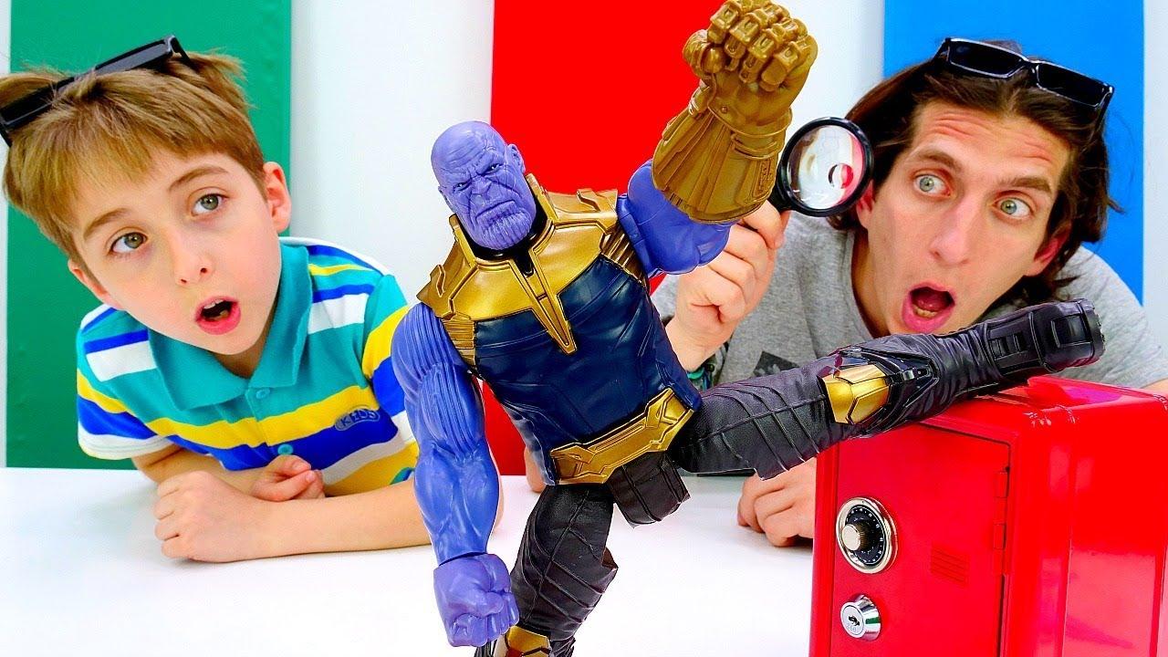 Танос и супергерои! - Игра детектив для мальчиков. Видео ...