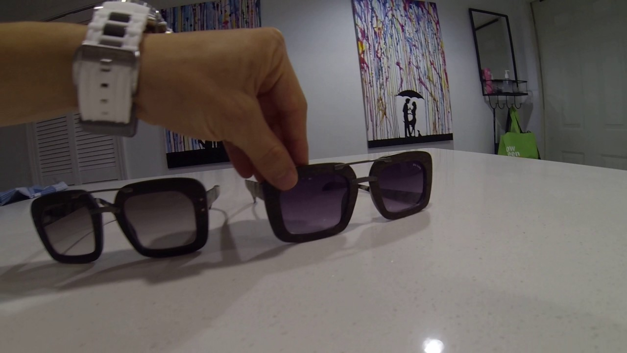e039bd4cc0 Real Prada sunglasses next to knock offs - YouTube
