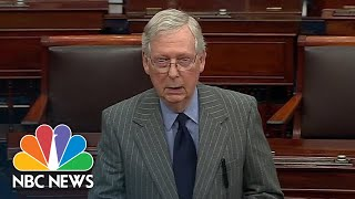 Mitch McConnell Outlines Next Steps Upon Senate Receiving Impeachment Articles | NBC News