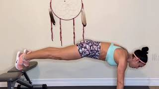 Bench plank to pike