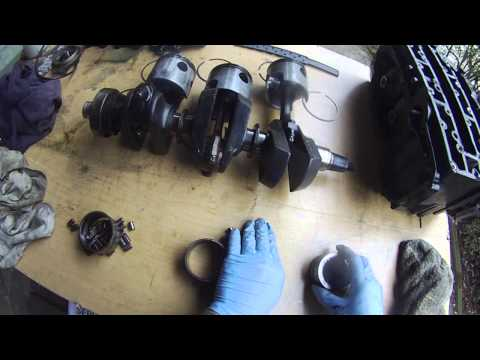 Mercury outboard 90hp rebuild - diy part 10 - piston rod tear down
