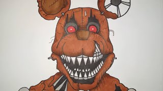 How To Draw Nightmare Rat From Five Nights At Candy
