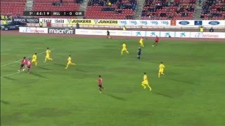 RCD Mallorca 1 - Girona FC 1. Transición Defensa Ataque del partido de la Liga Adelante  15/16