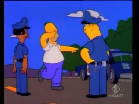 Homer beccato al alcol test