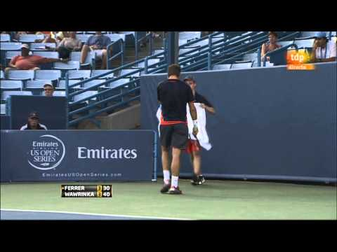 David Ferrer vs Stanislas Wawrinka (ATP Masters 1000 Cincinnati 2012) 1/2