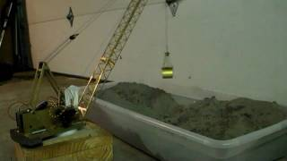R/C Crane Clam Bucket Testing