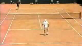 Andy Roddick Serve Stuck In clay!!!!!!
