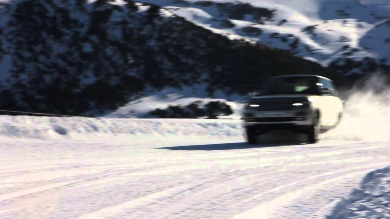 Snow Driving 2013 New Range Rover