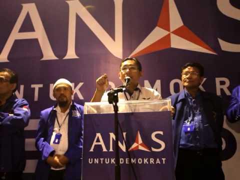 Orasi Politik Anas Urbaningrum Menjelang Pemilihan Dihadapan Ketua DPD dan DPC PD