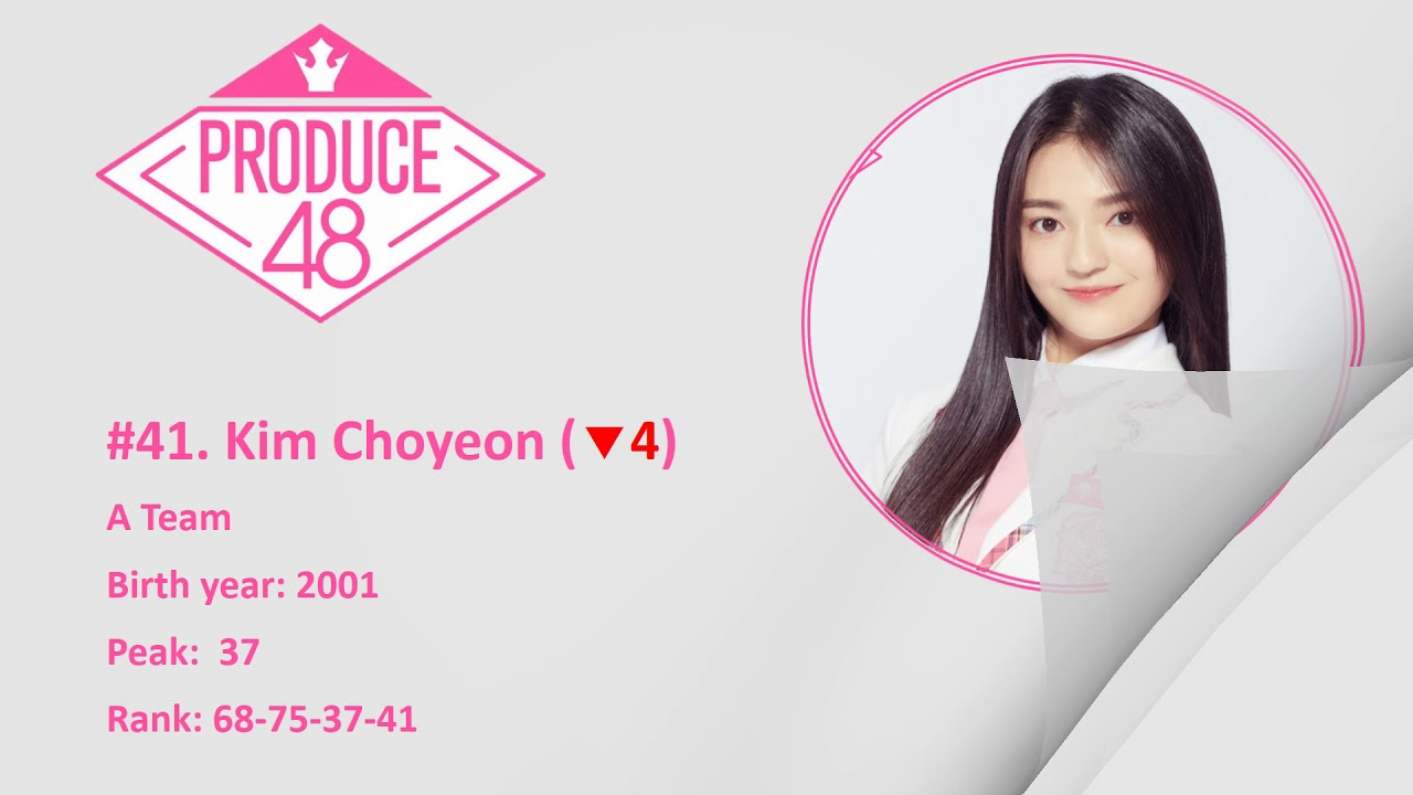 [TOP 58] PRODUCE 48 OFFICIAL RANKING EP 5 [180713]
