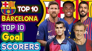 Barcelona all time top 10 goals scorers. players. #barcelonato10 lionel messi scored unbreakable for barcelona. now 1...