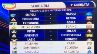Calendario serie A 2015-2016