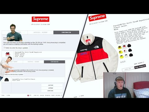 Supreme FW18 Week 15 Live Cop - TNF Expedition Week (Manual Checkout)