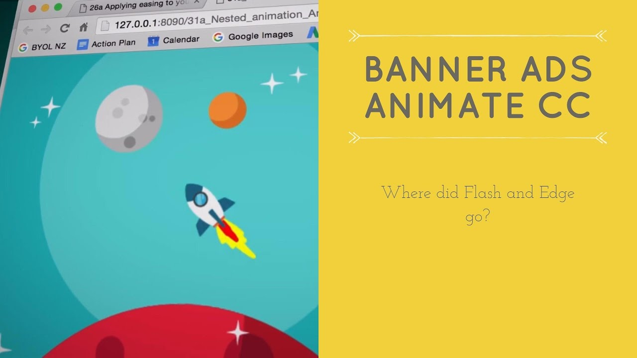 Where did Flash and Edge go?  - HTML5 Banner Ads in Adobe Animate [6/53]