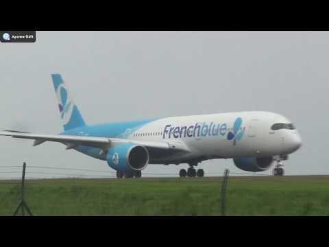 Plane Spotting @ Roland Garros Airport (RUN/FMEE) 19/01/2018 (tempête Berguitta)