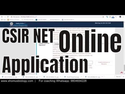 CSIR NET form December 2018 - How to apply CSIR NET online application form?
