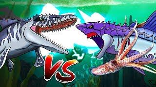 Dinosaurs Battle |  Mosasaurus VS Megalodon