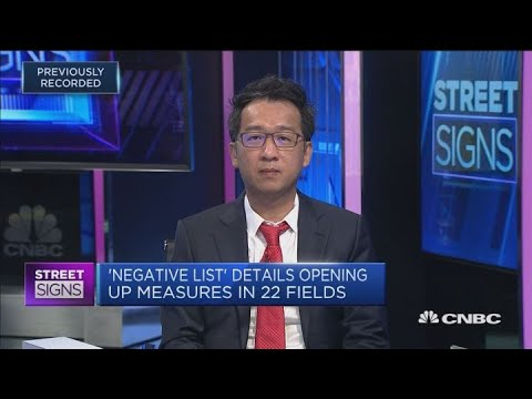 Assessing the changes in China's negative list | Street Signs Asia