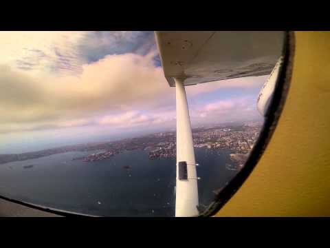 Flying over Sydney, from the Central Coast to the Sydney Harbour.