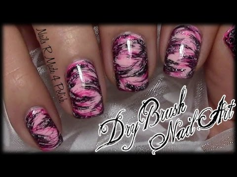 Easy Dry Brush Nails / Quick Messy Nail Art Design ...