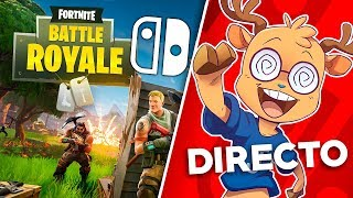 FORTNITE FOR NINTENDO SWITCH FREE!! PLAYING WITH YOU LIVE!! First impressions
