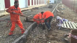 Установка бортового камня(Дорожно-строительная компания