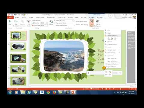 Adding Music to PPT Background and Saving as a