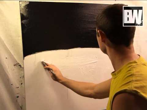Abstract Art Painting Acrylic Techniques Disconnected part1 black and white modern painting