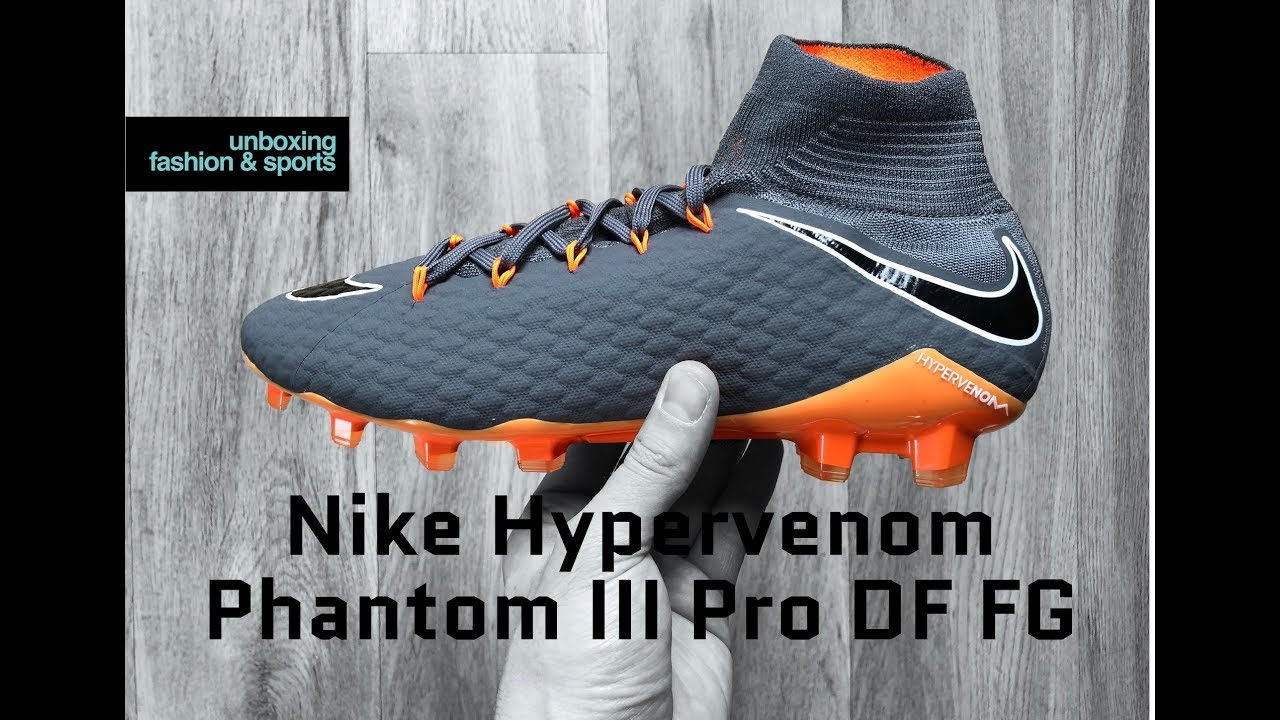 85f87bed9a055 Nike Hypervenom Phantom III Pro DF FG 'Fast AF Pack' | UNBOXING | football  boots | 2018 | 4K