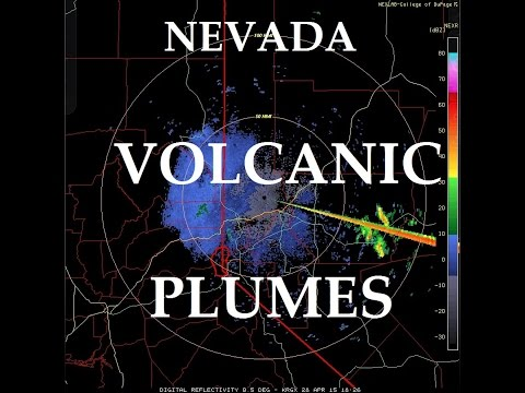 4/28/2015 -- West Coast Volcanic Plumes in Nevada -- Dormant buttes vent -- Seen on RADAR