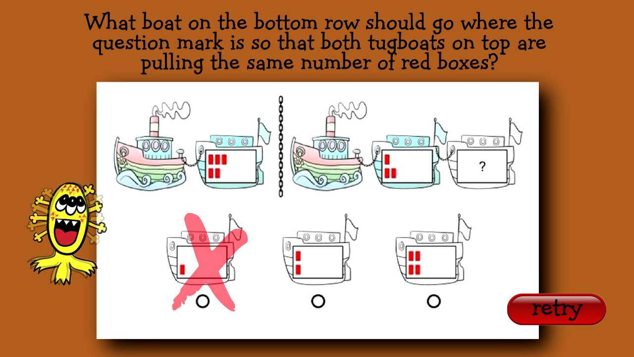 medium resolution of Interactive Practice Question for CogAT First Grade Level - YouTube