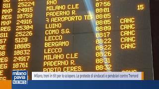 Milano, treni in tilt per lo sciopero. le proteste di sindacati e pendolari contro trenord