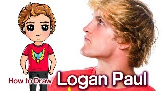 How to Draw Logan Paul | Famous Youtuber