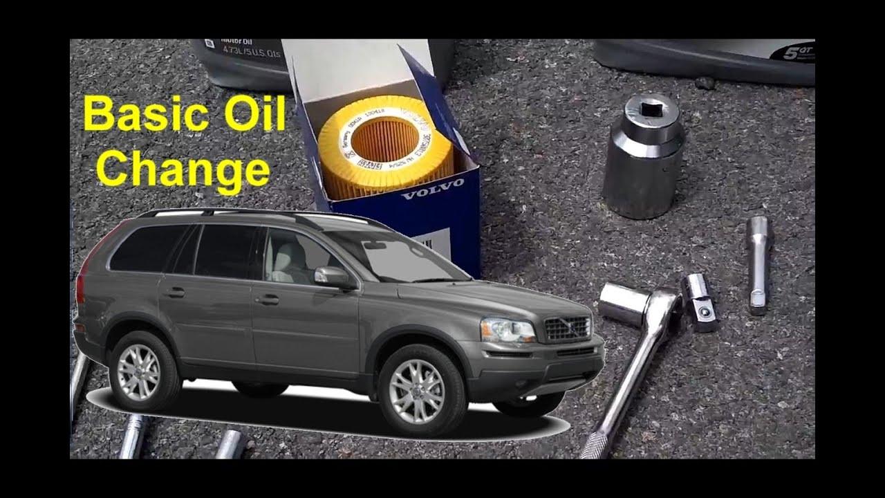 Volvo Xc90 Basic Oil Change Auto Repair Series Youtube