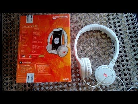 JBL TEMPO ON EAR HEADPHONES - MICROMAX A88 MUSIC PHONE