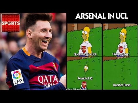 ARSENAL Draws Barcelona | Champions League DRAW